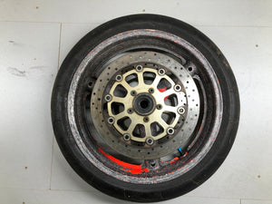 Suzuki GSXR 1000 front wheel discs and tyre