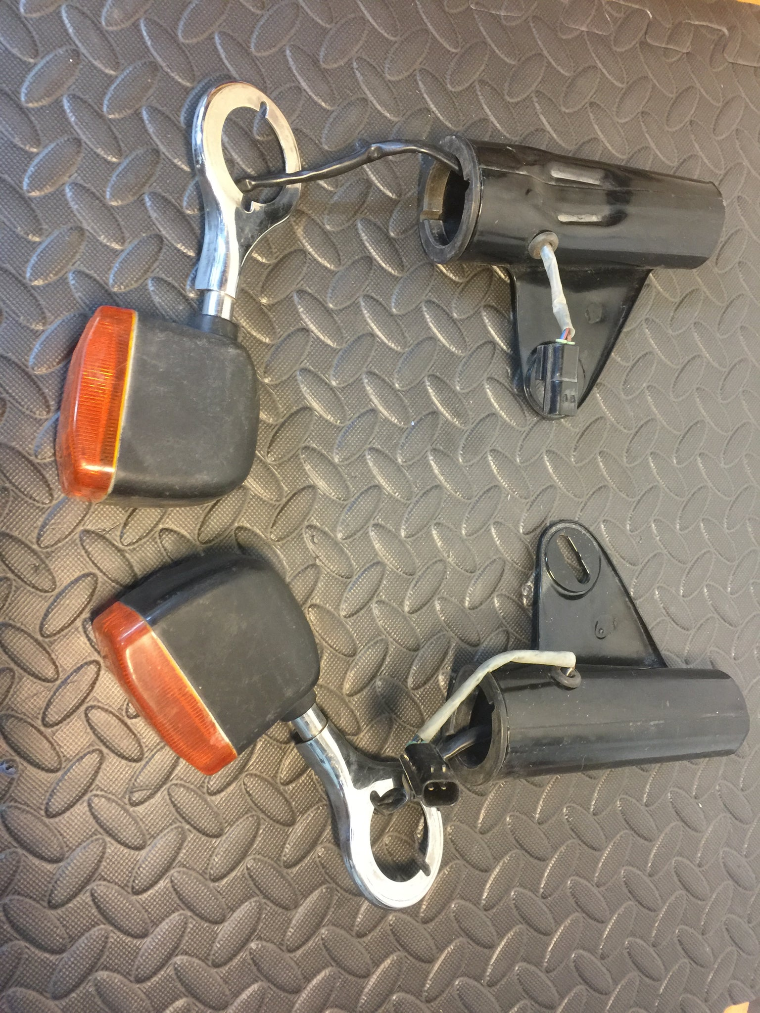 BMW R80 R100 front indicators brackets and ears