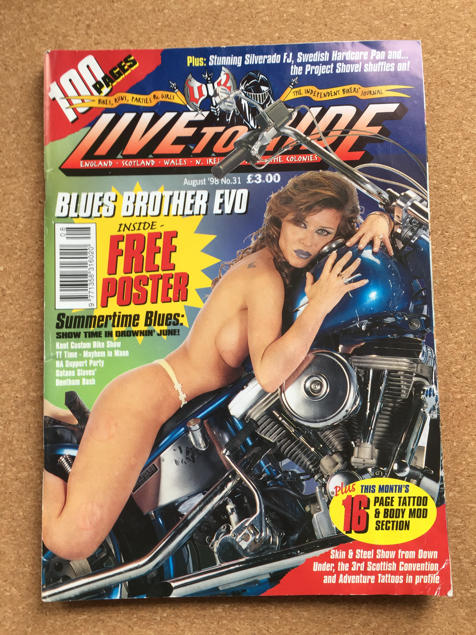Vintage Live to Ride Magazine August 1998 No. 31