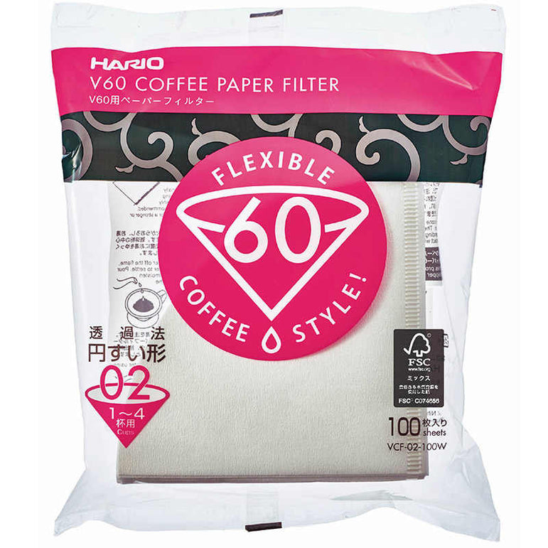 Hario V60 Paper Filters - 100 pack