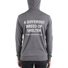 "Load image into Gallery viewer, ""A Different Breed of Shelter"" Lightweight Unisex Hoodie"