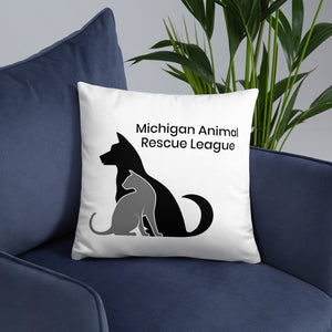 Michigan Animal Rescue League Throw Pillow