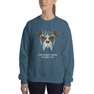 """A Different Breed of Shelter"" Graphic Unisex Sweatshirt"