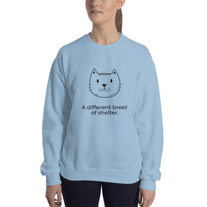 """A Different Breed of Shelter"" Unisex Sweatshirt"