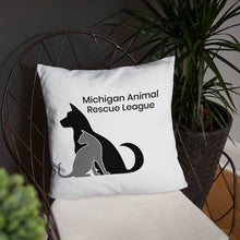 Load image into Gallery viewer, Michigan Animal Rescue League Throw Pillow
