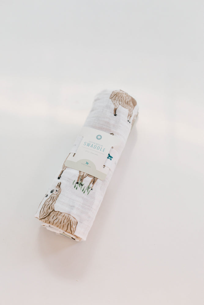 Load image into Gallery viewer, Little Unicorn Muslin Swaddle