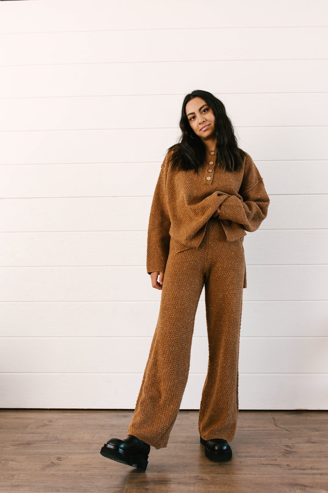 Load image into Gallery viewer, Illa Sweater & Pants Camel Set
