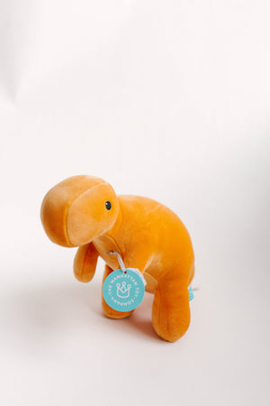 Velveteen Dino Toy Orange