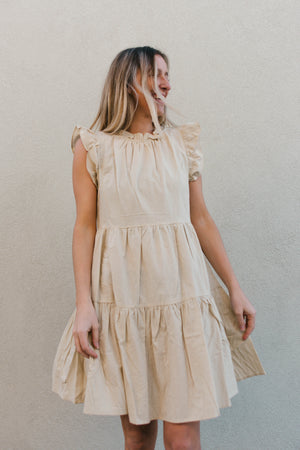 Tiered Dress With Ruffle Detail