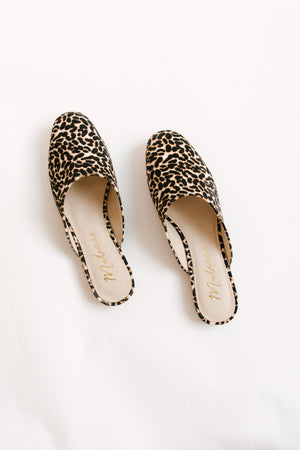 Load image into Gallery viewer, Leopard Calf Hair Mules