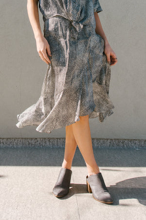 Load image into Gallery viewer, Ivory Woven Print Skirt