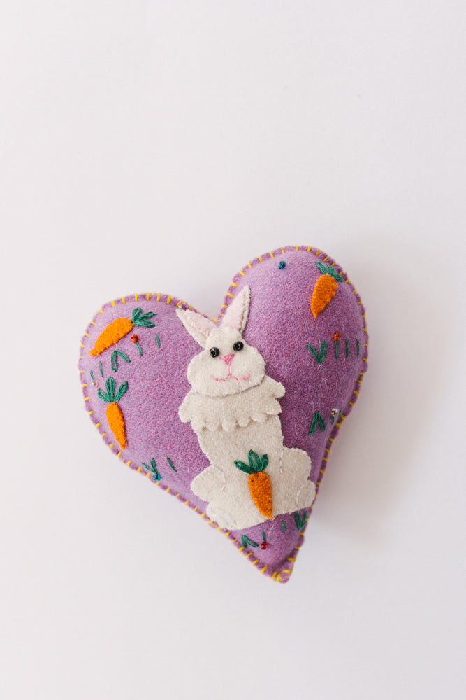 Load image into Gallery viewer, Easter Felt Heart Ornament