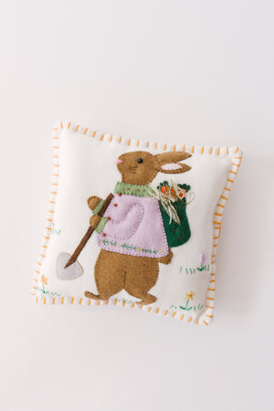 Load image into Gallery viewer, Garden Bunny Pillow