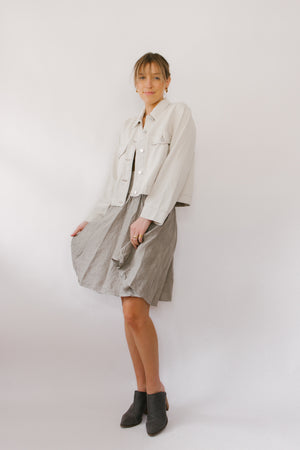 Woven Skirt Taupe