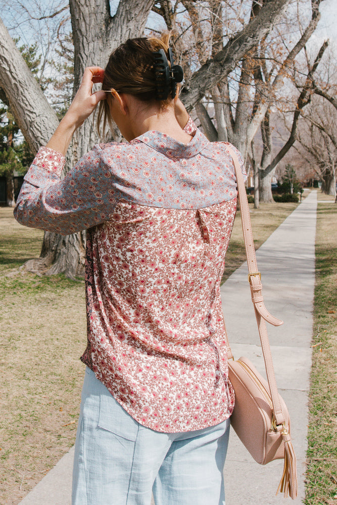 Floral Print Button Down Shirt