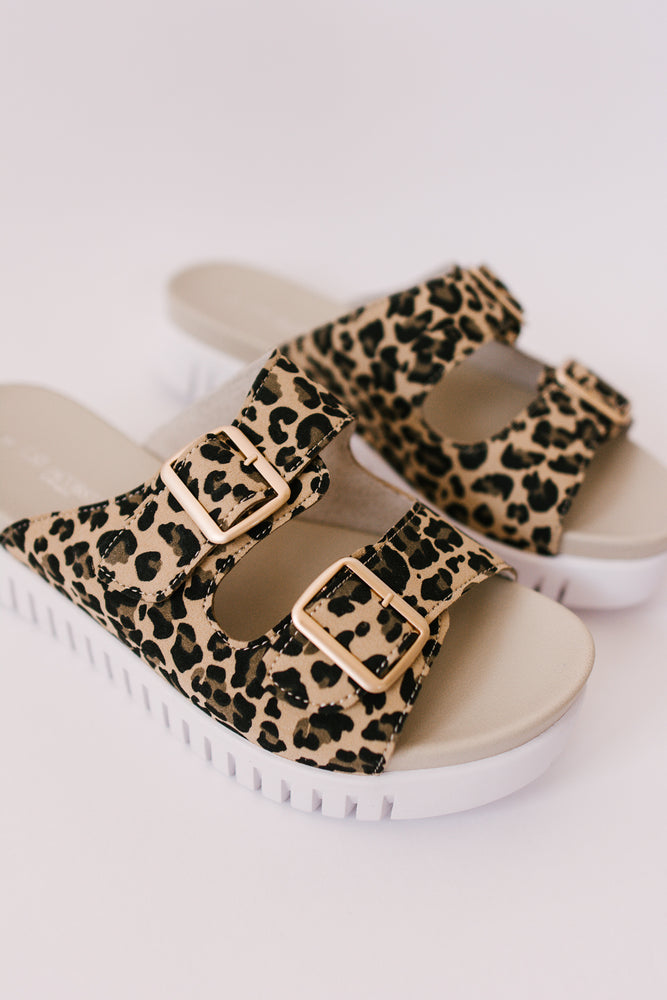 Load image into Gallery viewer, Isle Jacobsen Leopard Strap Sandals