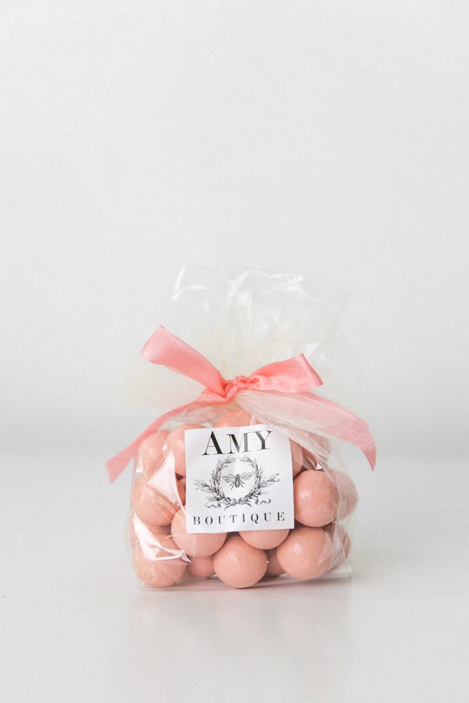 Pastel Pink Chocolate Dipped Malt Balls