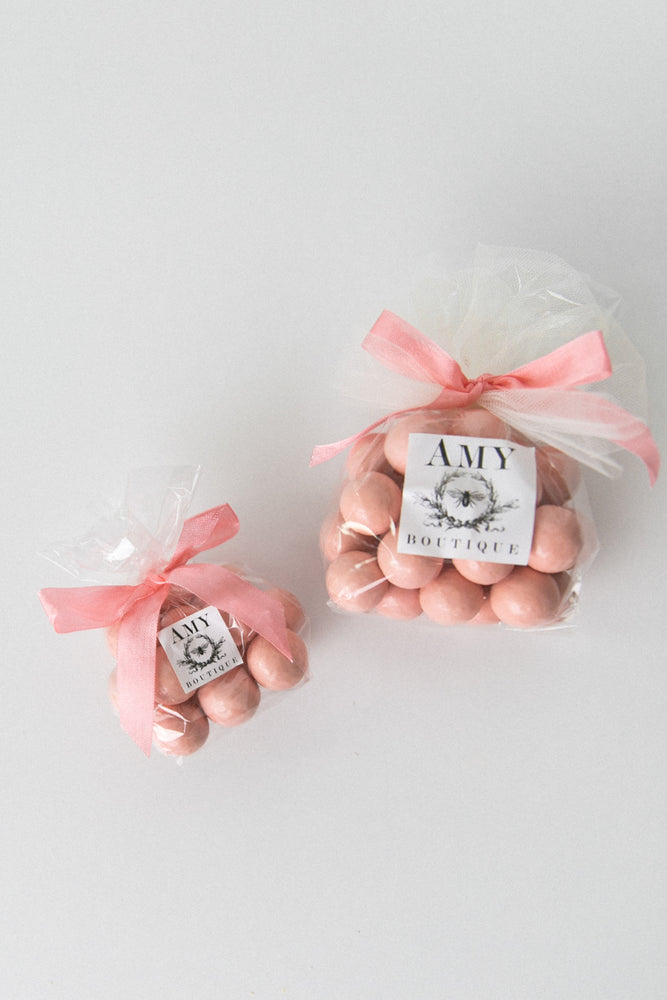 Load image into Gallery viewer, Pastel Pink Chocolate Dipped Malt Balls