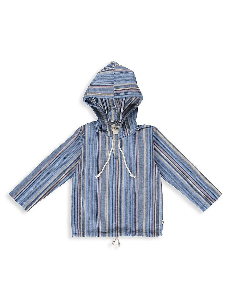 Load image into Gallery viewer, Boy's Hooded LS Top Multi Stripes