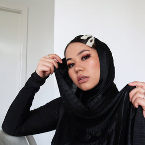 """ Meshki ""  Soft Satin Formal Hijab Headscarf"