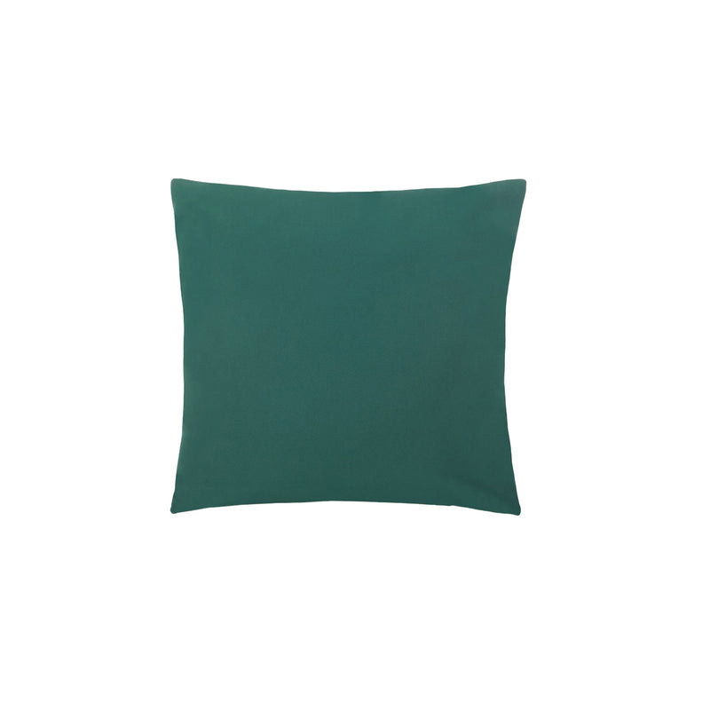 coussin vert bouteille