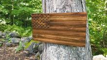 Load image into Gallery viewer, Dark Walnut Carved 50 Stars with Recessed Stripes