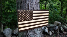 Load image into Gallery viewer, Two Tone Carved 50 Stars with Recessed Stripes