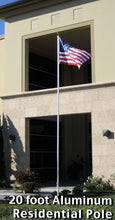 Load image into Gallery viewer, 20ft Aluminum Residential Pole (Ball) w/US Flag