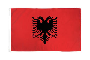 Albania 3x5ft Poly Flag