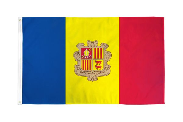 Andorra 3x5ft Poly Flag