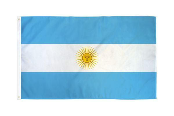 Argentina 3x5ft Poly Flag