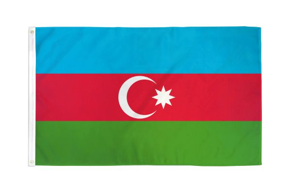 Azerbaijan 3x5ft Poly Flag