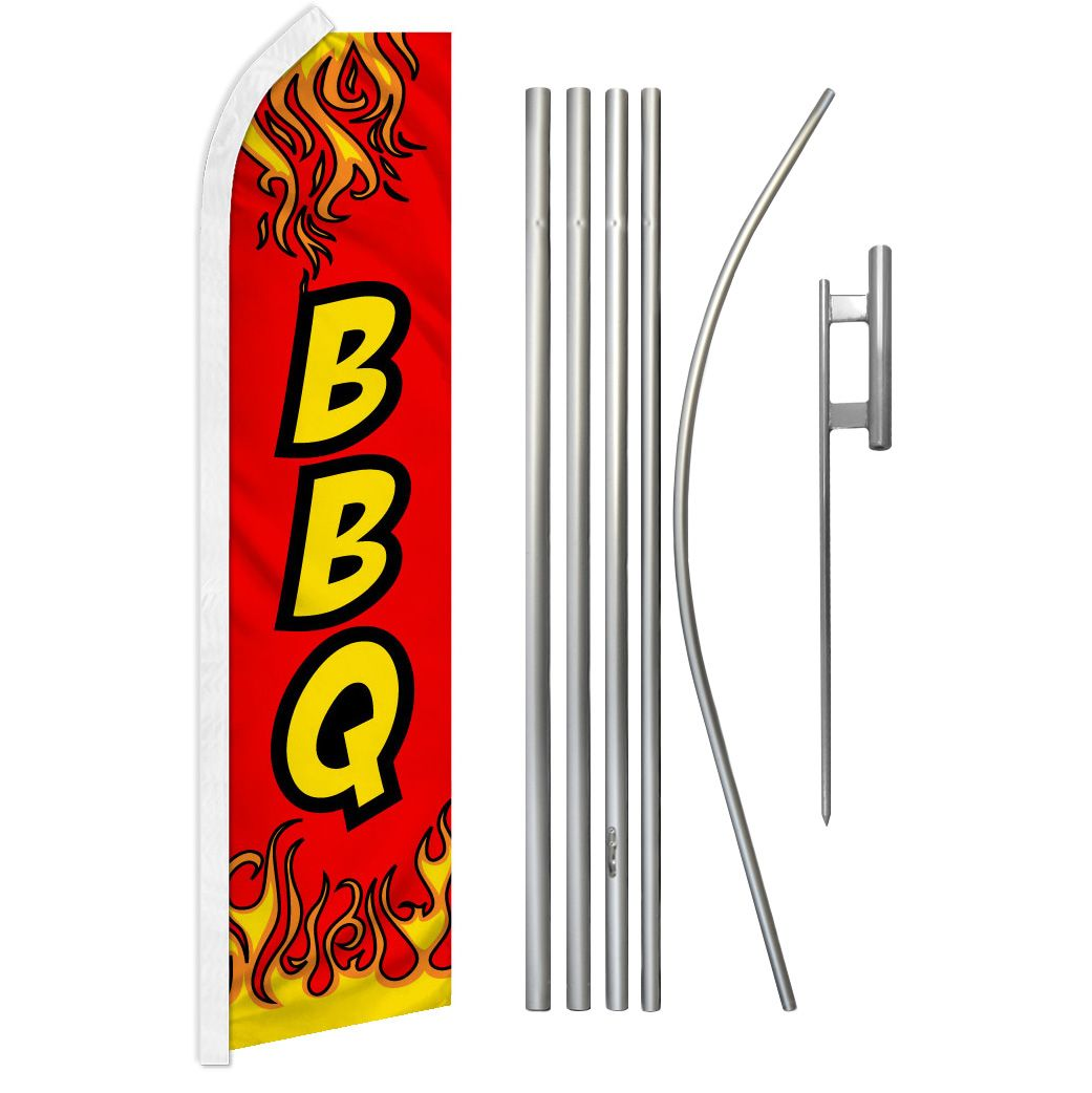 BBQ and Super Flag and Pole Kit