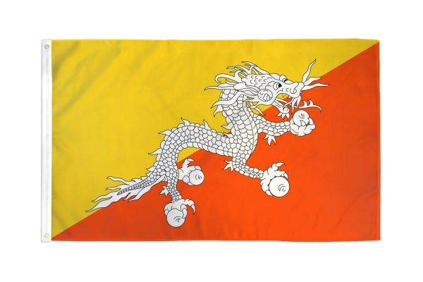 Bhutan 3x5ft Poly Flag
