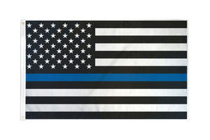 USA Thin Blue Line 3x5ft Poly Flag