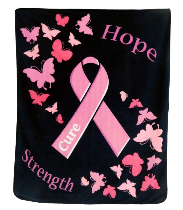 Pink Ribbon 50x60in Blanket Polar Fleece