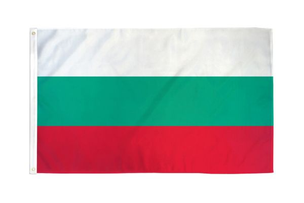 Bulgaria 3x5ft Poly Flag