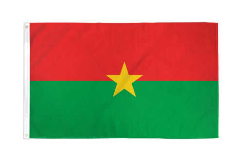 Burkina Faso 3x5ft Poly Flag