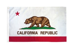 California 3x5ft Poly Flag