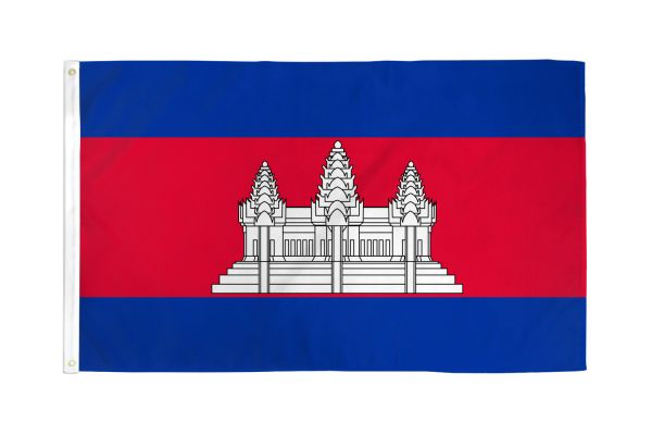 Cambodia 3x5ft Poly Flag
