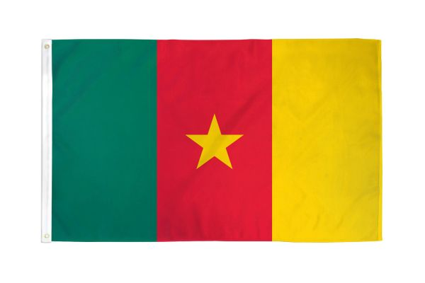 Cameroon 3x5ft Poly Flag