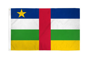 Central African Republic 3x5ft Poly Flag