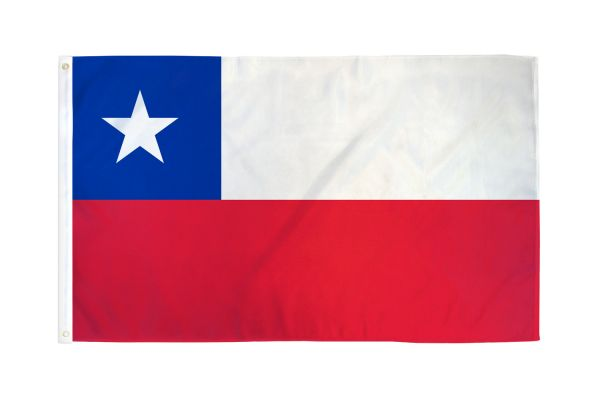 Chile 3x5ft Poly Flag