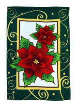 Load image into Gallery viewer, Poinsettias 12x18in Garden Flag