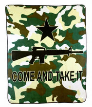 Load image into Gallery viewer, Come and Take It Rifle (Camo) 50x60in Blanket Polar Fleece