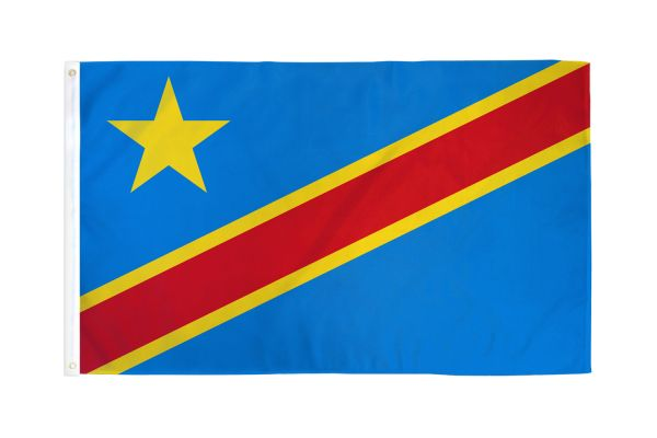 Congo Democratic Republic 3x5ft Poly Flag