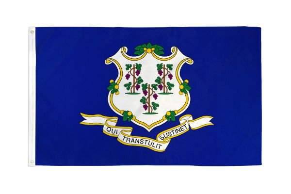 Connecticut 3x5ft Poly Flag