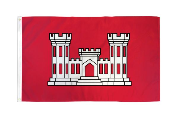 US Army Corps of Engineers 3x5ft Poly Flag