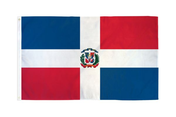Dominican Republic Waterproof 3x5ft Poly Flag