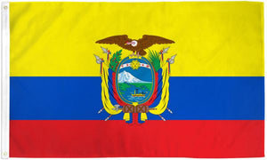 Ecuador 3x5ft Poly Flag